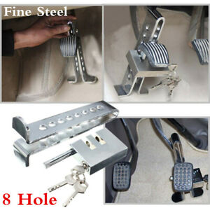 8 Hole Auto Anti theft Device Clutch Lock Car Brake Strong Security Lock Tool