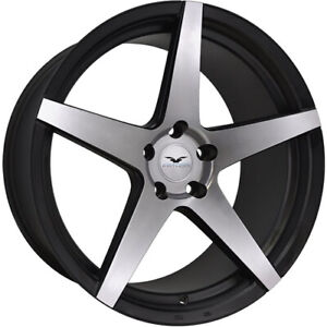 4 Staggered 22x9 22x10 Fathom Stern Machined Black 5x120 25 22 Wheels Rims
