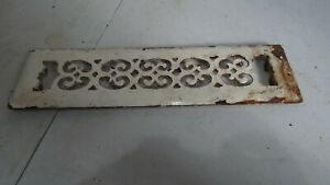 Vintage Floor Grate Heat Register Victorian Steel Cast Home Wall Antique Metal
