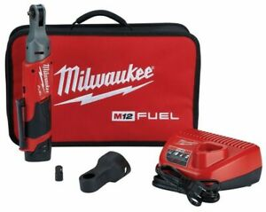 Milwaukee 2557 21 M12 Fuel 3 8 Drive Ratchet Kit With Battery And Charger New