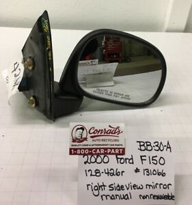 Used Vintage Ford F150 2000 Right Side View Mirror drivers Quality