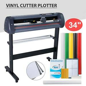 34 Lcd Vinyl Cutter Plotter Cutting Sign Sticker Making Print Software 3 Blades
