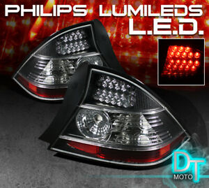 For Black 2004 2005 Honda Civic Coupe Led Tail Lights Lamps Left right