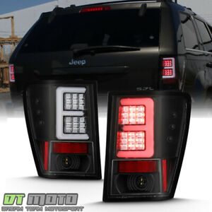 Black 2005 2006 Jeep Grand Cherokee Led Tube Tail Lights Brake Lamps Left Right
