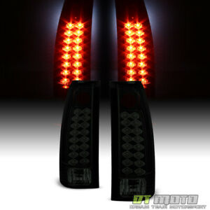 Blk Smoke 1988 1998 Chevy gmc C10 Suburban Tahoe Yukon Lumileds Led Tail Lights