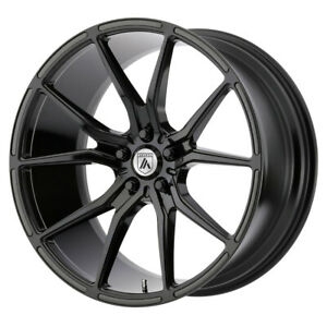 4 New 22x10 5 Asanti Black Vega Gloss Black Wheel rim 5x115 Et25
