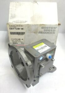 Boston Gear Right Angle Worm Gear Reducer Sbkf713b 30 b5 g 30 1 Ratio 0 32 Hp