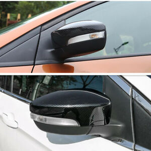 For Ford Focus 2012 2018 Rs St Carbon Fiber Style Rearview Mirror Cover Trim 2x