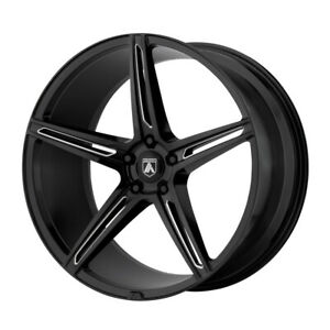 4 New 22x10 5 Asanti Black Alpha 5 Gloss Black Milled Wheel rim 5x114 3 Et35
