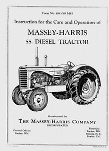 Massey Harris 55 Diesel Operating And Service Manual