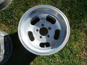 1 14 X 8 Slotted Mag Wheel Old School Slot Vintage 5 X 4 75 Et Ansen Chevy 10