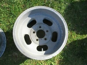 1 14 X 8 Slotted Mag Wheel Old School Slot Vintage 5 X 4 75 Et Ansen Chevy 13