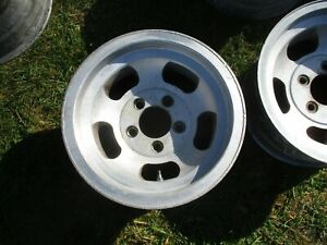 1 14 X 7 Slotted Mag Wheel Old School Slot Vintage 5 X 4 75 Et Ansen Chevy 15