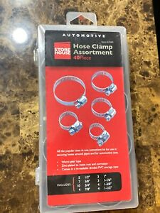 40pc Hose Clamp Assortment Set Sizes 1 2 To 1 1 2 Gear Type Assorted Clamps