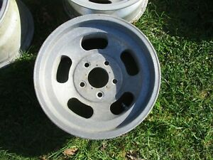 15 X 7 Slotted Mag Wheel Old School Slot Vintage 5 X 5 Ansen Et Chevy 28