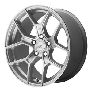 4 New 17x8 5 Motegi Mr133 Hyper Silver Wheel rim 5x112 Et45