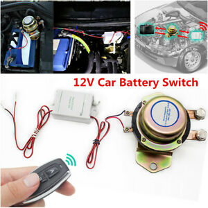 12v Car Battery 2pcs Wireless Remote Control Switch Disconnect Power Master Kill