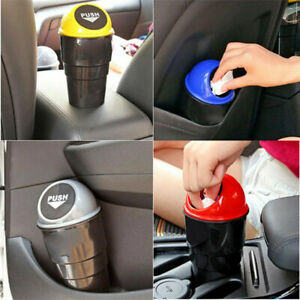 Auto Car Waste Trash Rubbish Bin Can Garbage Dust Case Holder For Office Home Cn