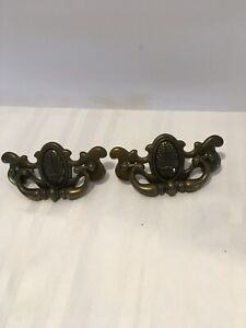 2 Chippendale Wheat Handles Drawer Pulls Cp2539 3 Screw To Screw