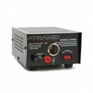 Pyramid Ps9kx Bench Power Supply Ac to dc Power Converter With Car Power Outlet