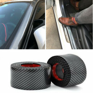 Car Rubber Stickers Carbon Fiber Door Sill Protector Car Parts For Toyota Auto