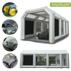 Inflatable Spray Booth Tent 30x20x13ft Auto Car Paint Tent With Filters 2 Fans