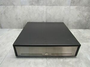 Ncr Realpos Heavy Duty Stainless Steel Pos Cash Drawer W Cable Black