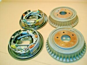 New Chevy S10 Brake Drums Shoes And Both Backing Plates 95 05 Yr Gmc Sonoma
