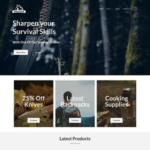 Survival prepper Store Professional Dropshipping Affiliate Website Business