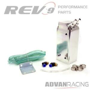 Rev9 Ac 092 Silver Universal Aluminum Oil Catch Can 750ml For Toyota Matrix