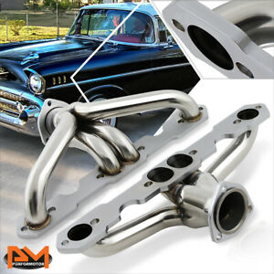 For 55 57 Sbc Small Block 265 283 Stainless Steel Tri 5 Exhaust Header Manifold
