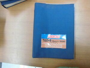 Fiat 124 Sport 1600 Coupe Spider Catalogue Spare Parts