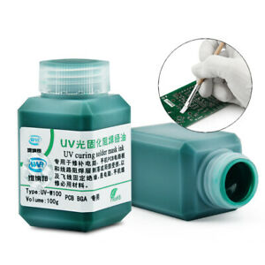 Wnb 100g Green Oil Uv Solder Mask Ink Bga Pcb Paint Prevent Corrosive Arcing