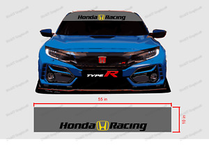 Honda Racing Windshield Banner Decal Color Choices Available 55 x10