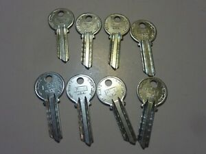 Vintage Key Blanks P 1 P1 Curtis Lot Of 8 Pieces Nos Uncut Automotive Auto car