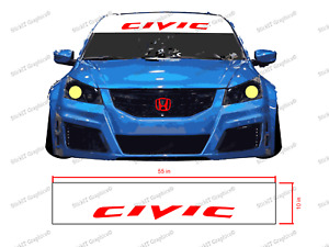 Honda Civic Windshield Banner Decal Visor 2 Layer Cut For Honda Civic 55 x10