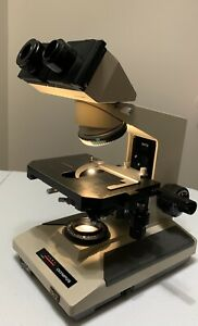 Olympus Bh 2 Bht Microscope With Binocular Head Condender And Mechanical Stage