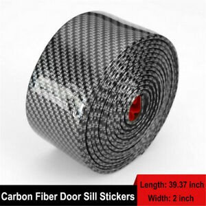 Car Parts Accessories Carbon Fiber Auto Door Welcome Plate Sill Scuff Stickers