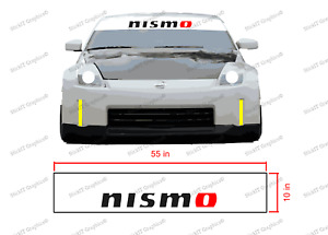 Nismo Windshield Banner Sun Visor Strip 55 X 10