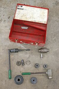 Greenlee Hydraulic Ram 746 Ratchet 1904 Knockout Driver Punch Set 1 1 4 3 1 2