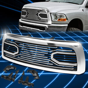 For 10 18 Dodge Ram Badgeless Big Horn Style Abs Front Bumper Grille Replacement