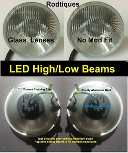 7 Led Headlights High Low Maxtel Head Lamps Upgrade Led Conversion 4