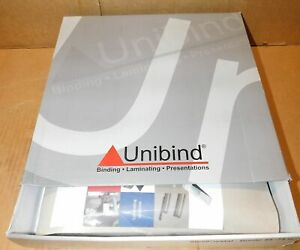 50 Unibind 25200ls09bo Steelcrystal Frosted Cover 9mm Bordo 55 75 Pages New