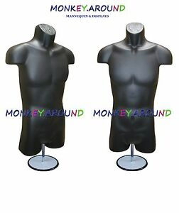 Mannequin Male Form Stand Trade Show Display s Men Shirt Pant Jersey Black