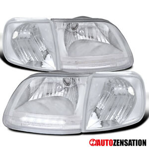 For 1997 2003 Ford F150 Expedition Led Drl Clear Lens Headlights corner Lamps