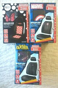 Minnie Mouse Marvel Black Panther Premium Sideless Seat Covers W Cargo Pockets