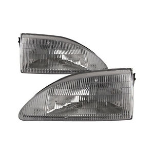 Headlights Pair Left Right Set Fits 1994 1998 Ford Mustang