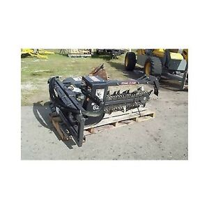 Skid Steer Trencher Bradco digs 48 X 6 Shark Teeth For Extreme Tough Digging