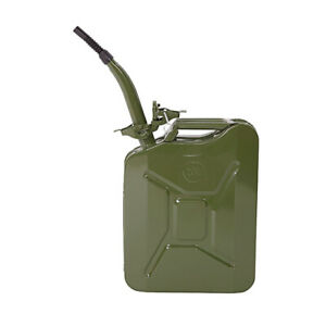 Jerry Can 5 Gal 20l Green Steel Gasoline Gas Fuel Tank Emergency Portable New