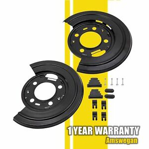 Rear Brake Dust Shield Backing Plates Pair Fit Ford F250 F350 F450 Excursion Sd